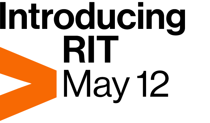 "orange arrow pointing right with ""Introducing RIT May 12"""